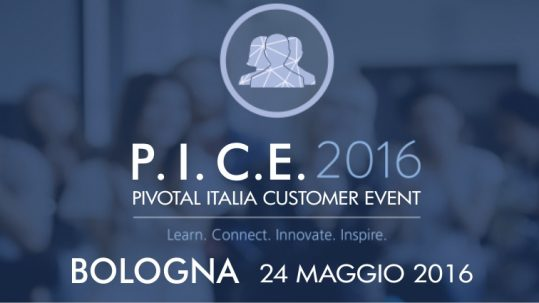 Pivotal Customer Event Bologna