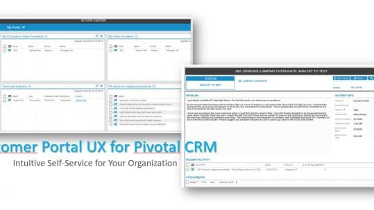 Customer Portal for Pivotal CRM UX